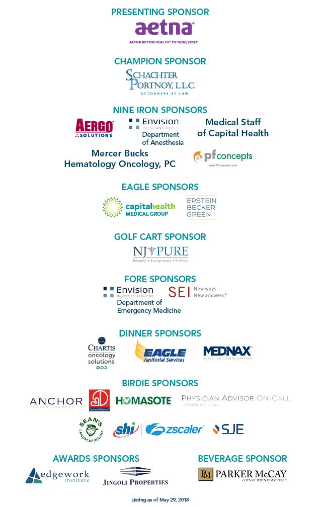 2018 Sponsors | Capital Health Hospitals